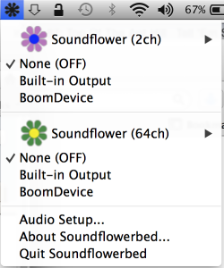 Soundflower Options